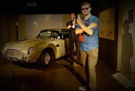 Practicing my Bond pose!
